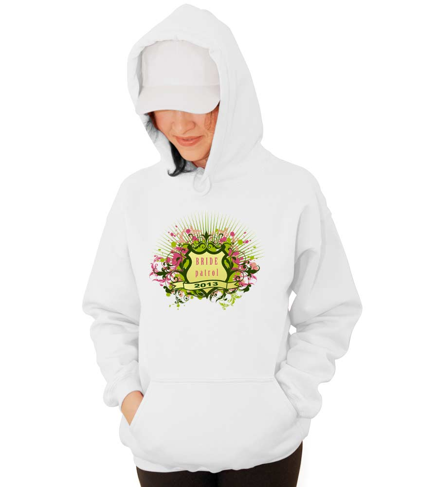 Bride Patrol Wedding Hooded Sweatshirt