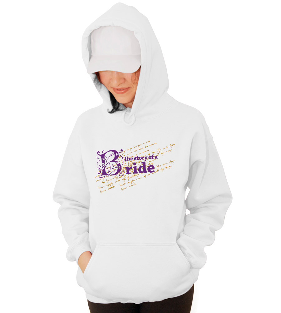 The Story of a Bride Wedding Hooded Sweatshirt
