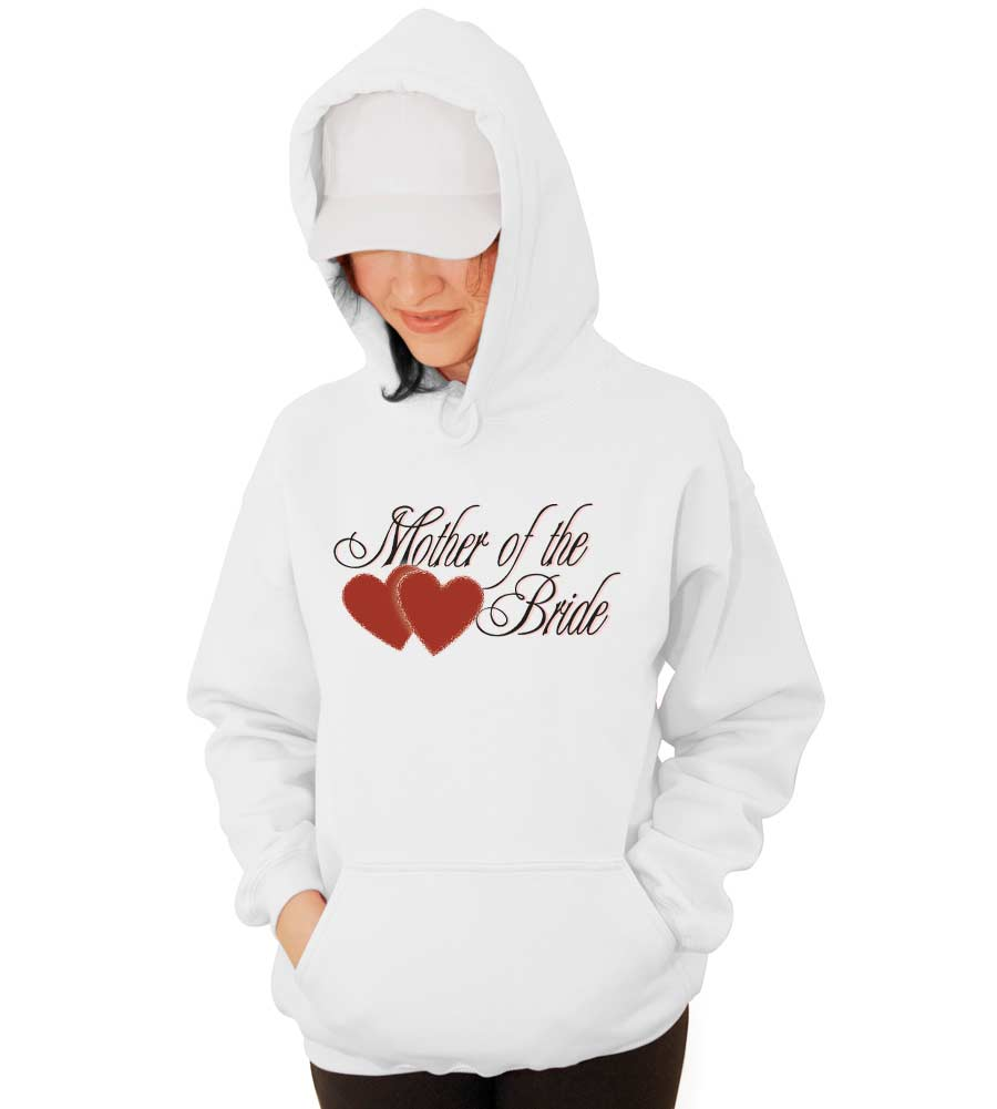 Mother of the Bride Wedding Hooded Sweatshirt