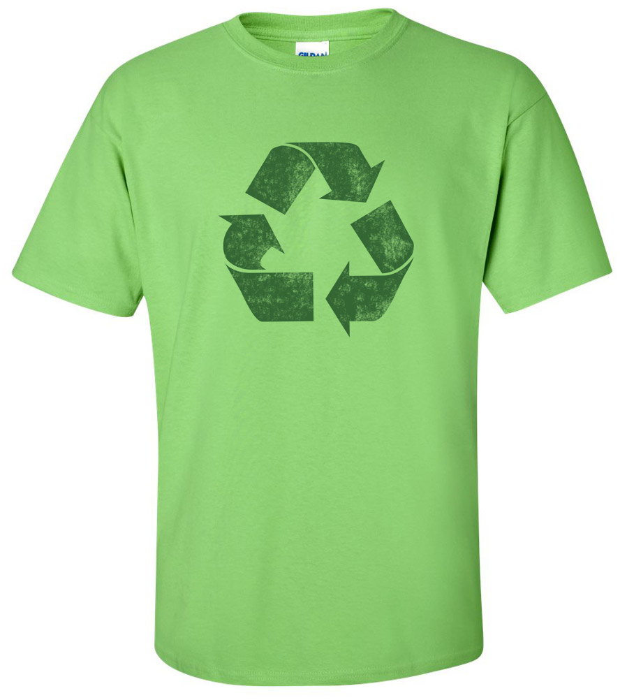Recycle Logo T-shirt New Sign Environment Earth Green Planet Tee