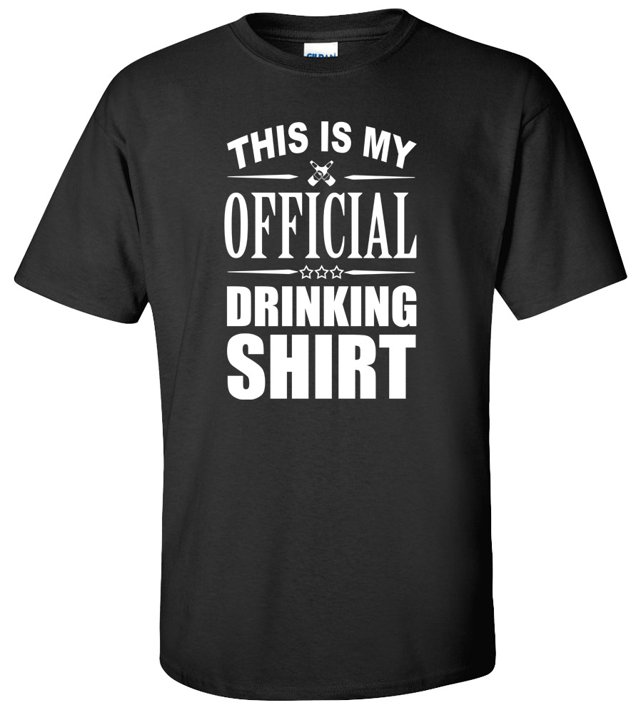 This is My Official Drinking Shirt T-shirt Rude Night Club Bar Pub Funny College Tee