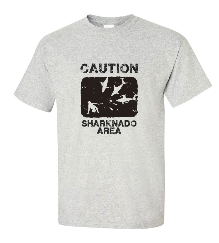 Caution Sharknado Area T-shirt
