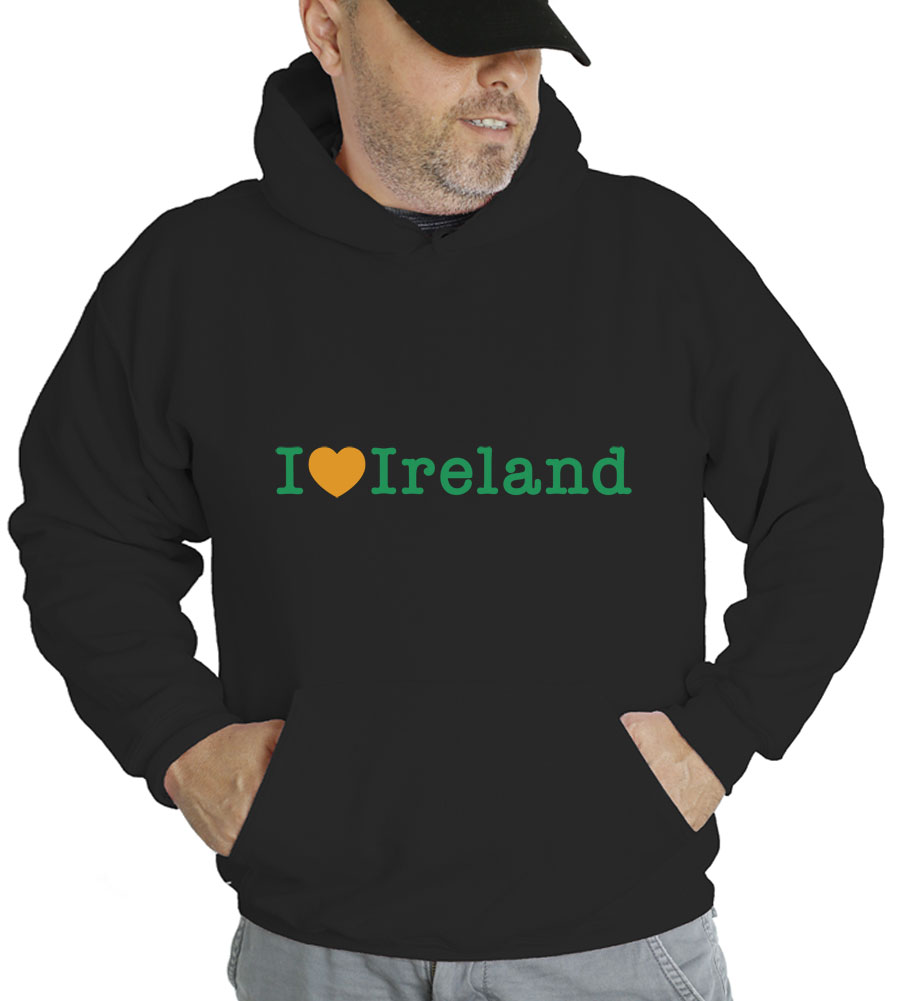 Saint Patrick's Day I Love Ireland Hooded Sweatshirt