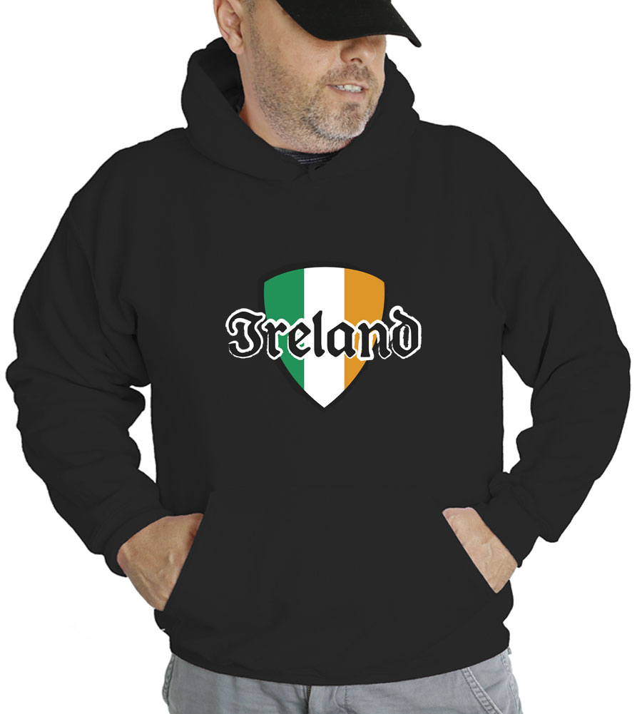 Saint Patrick's Day Ireland Shield  Hooded Sweatshirt