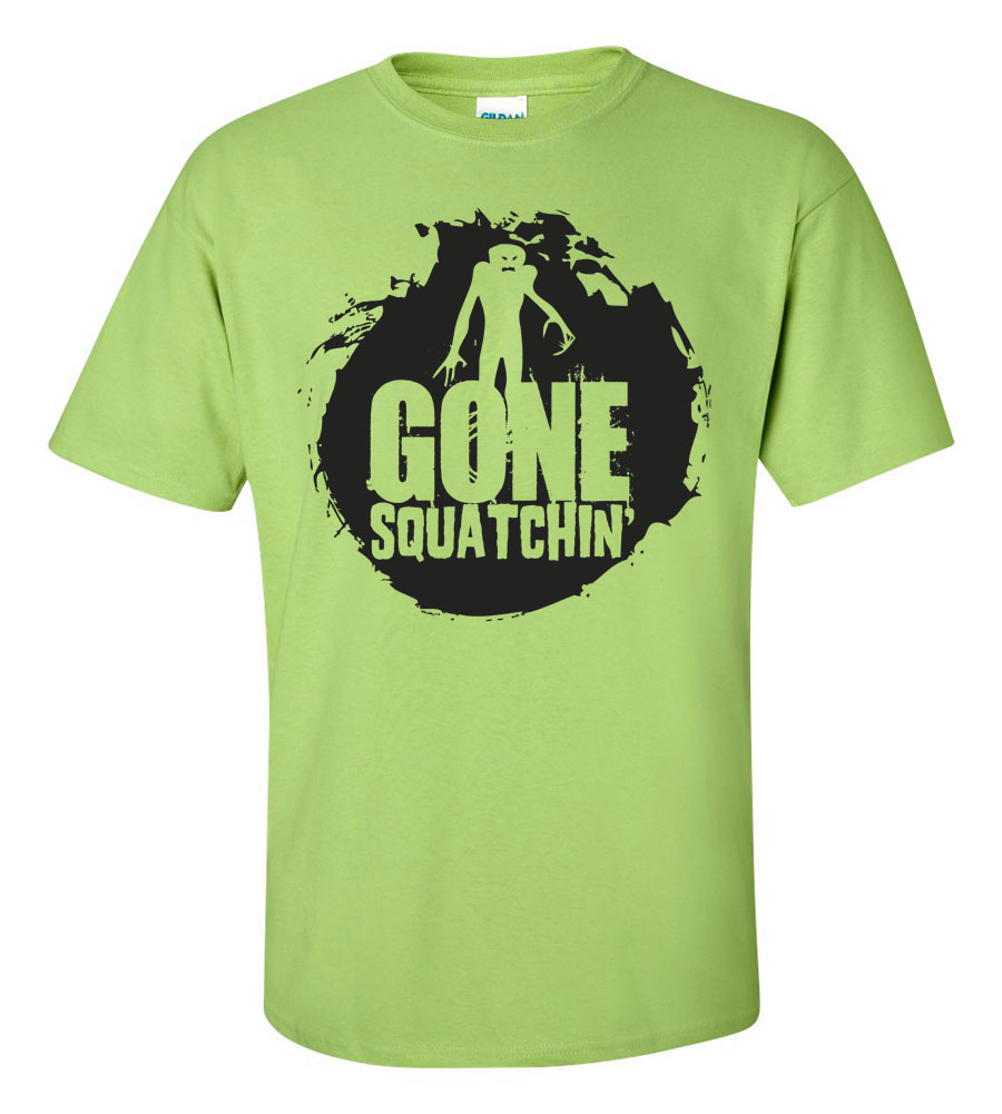 Halloween Gone Squatchin' T-shirt Funny Scary