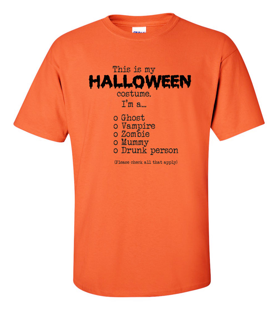 This Is My Halloween Costume Check All That Apply T-shirt