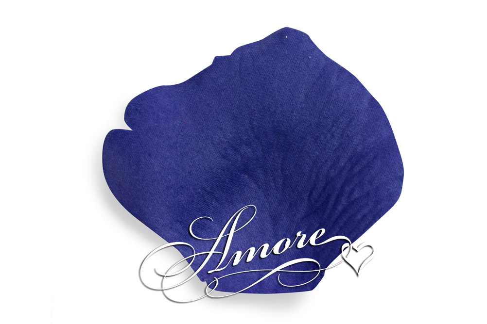 Royal Blue Silk Rose Petals Wedding 600