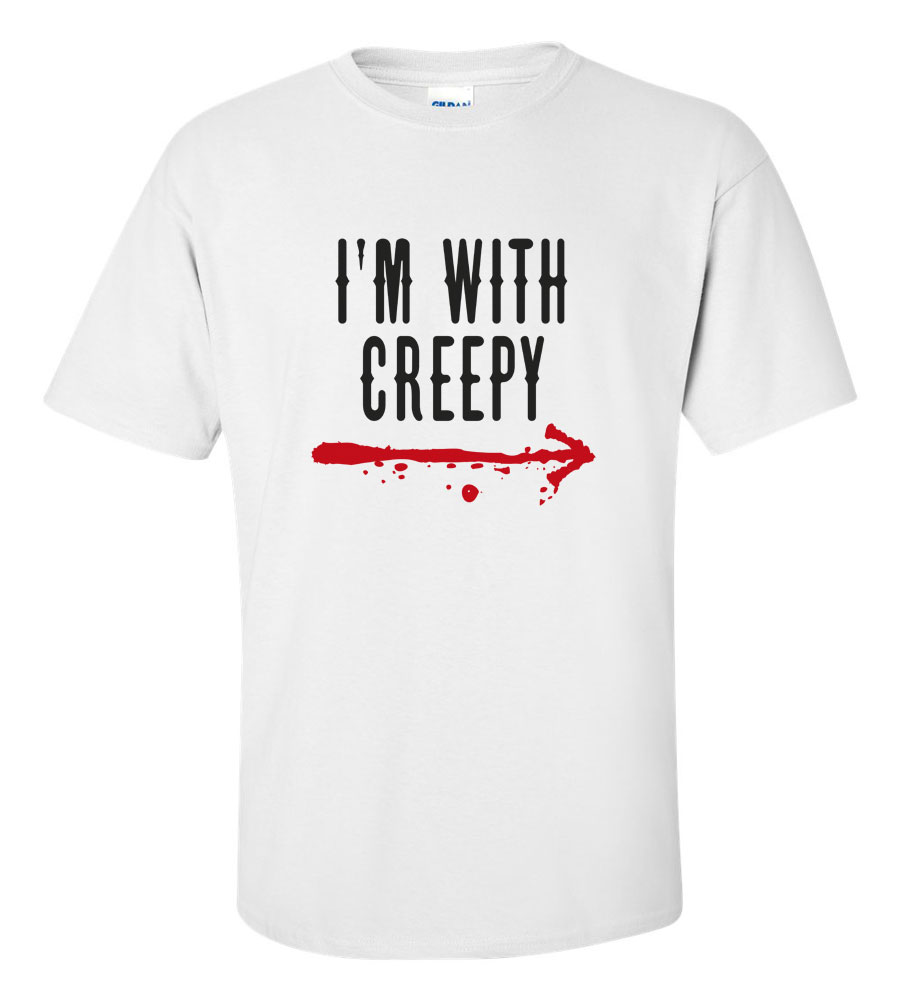 Halloween I'm with Creepy T-shirt Funny Scary