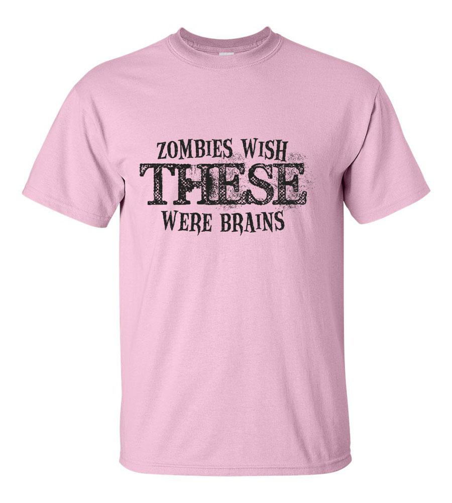 Halloween Zombies Wish These Were Brains T-shirt Funny Scary