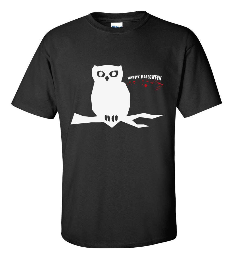 Halloween Owl Happy Halloween T-shirt Funny Scary
