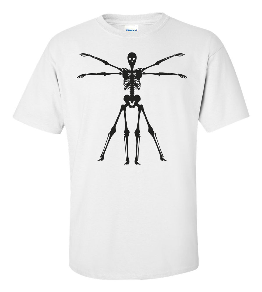 Halloween Skeleton T-shirt Funny Scary