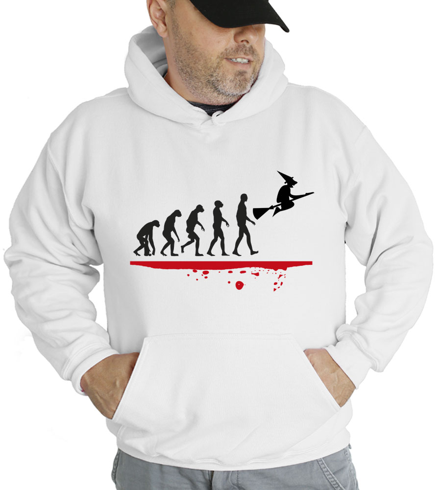 Halloween Evolution Witch Hooded Sweatshirt