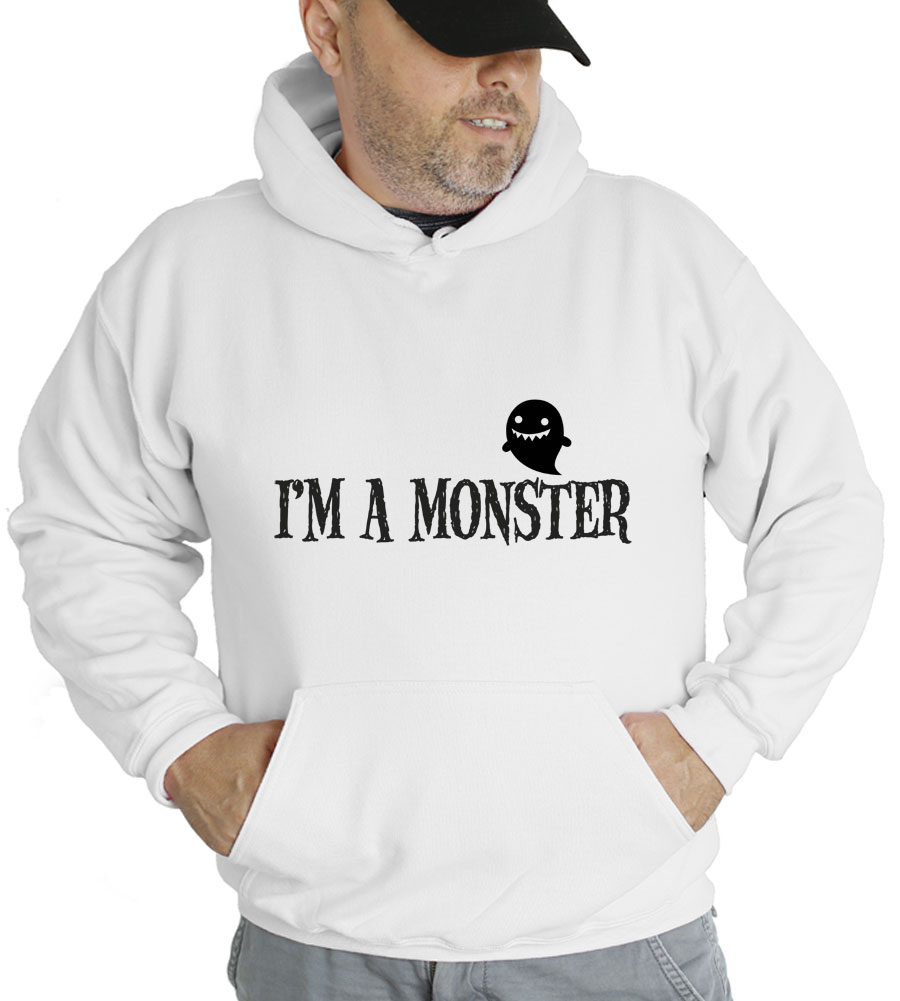 Halloween I Am A Monster Hooded Sweatshirt