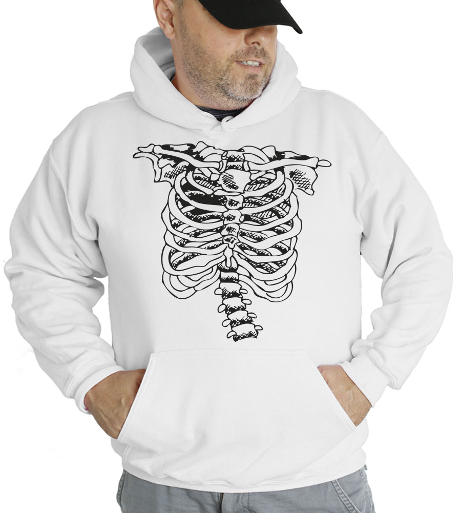 Rib Cage Halloween Hooded Sweatshirt