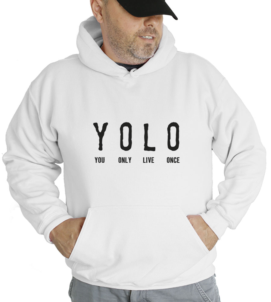 YOLO You Only Live Once Hooded Sweatshirt