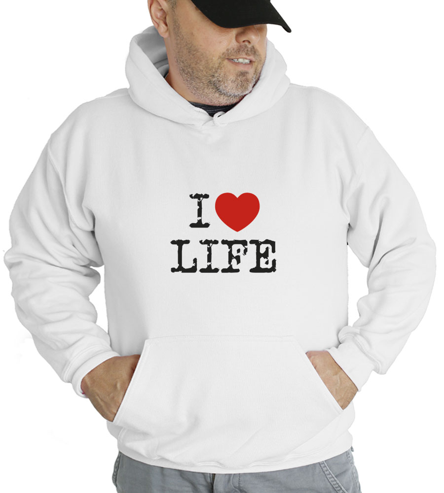 I Love Life Hooded Sweatshirt