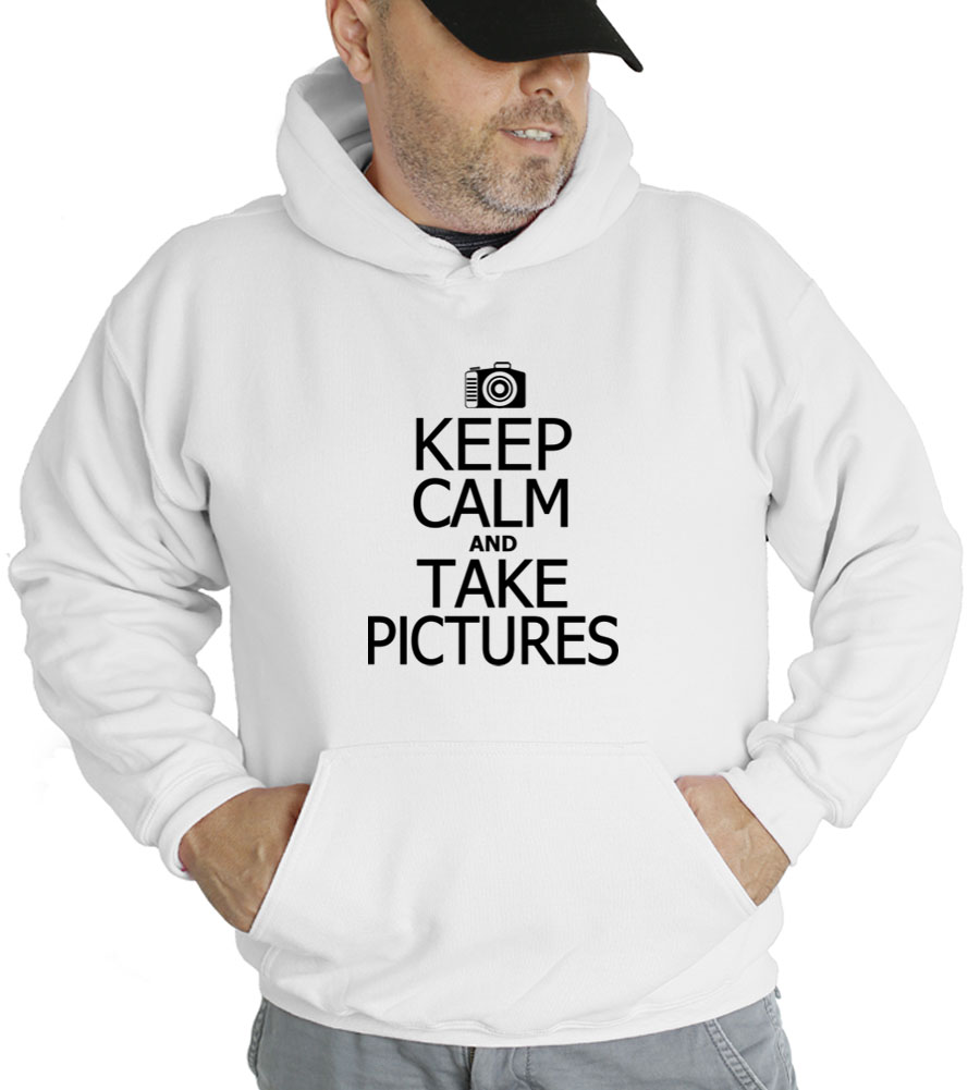 Keep Calm and Take Pictures Hooded Sweatshirt