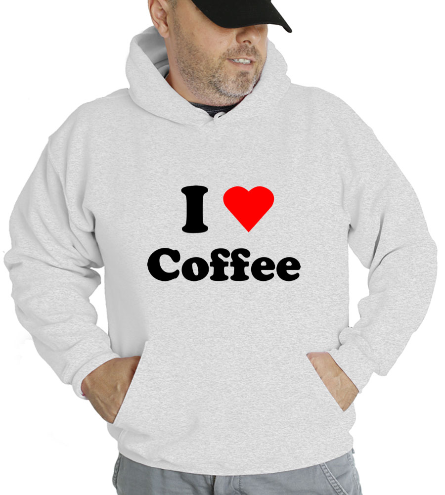 I Love Coffee Hooded Sweatshirt