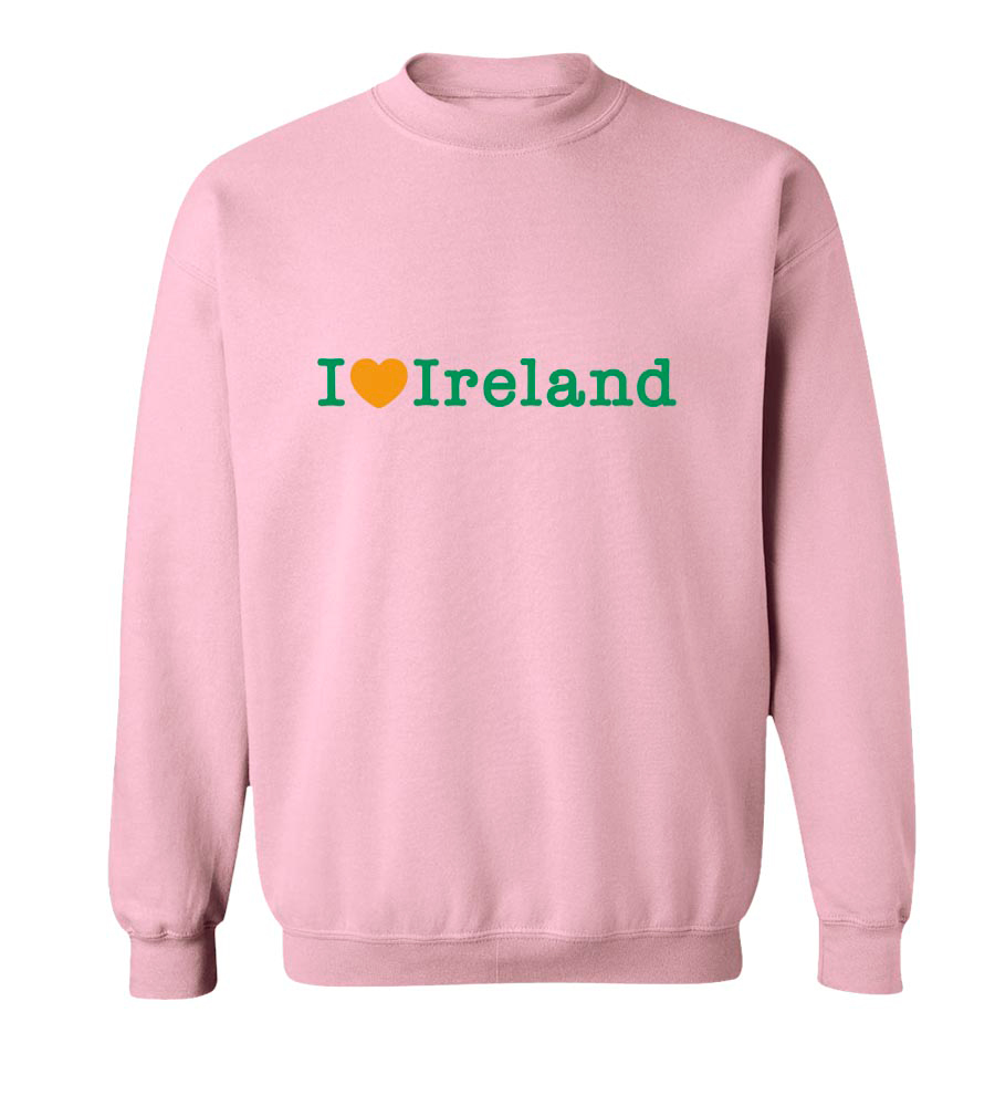 I Love Ireland St. Patrick's Day Crew Neck Sweatshirt