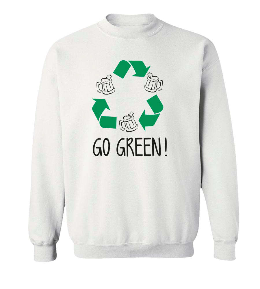Go Green St. Patrick's Day Crew Neck Sweatshirt