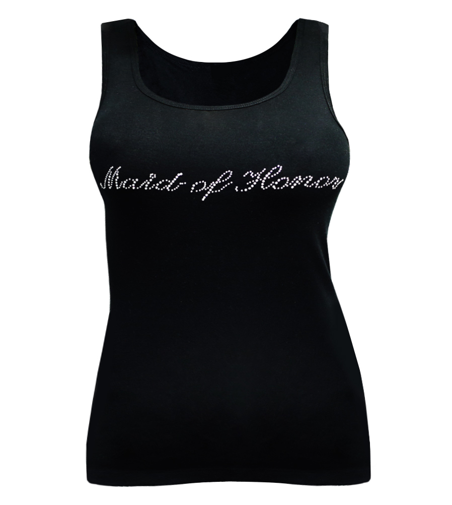Maid of Honor Rhinestones Wedding Tank Top