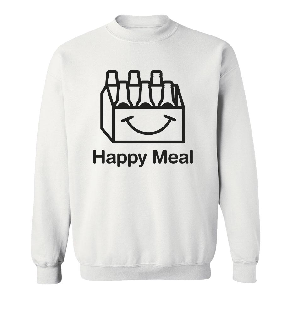 Happy Meal Beer  Crew Neck Sweatshirt