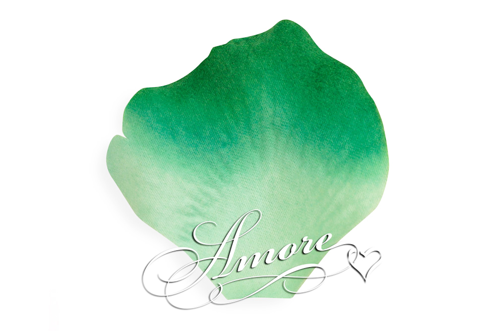 Green Clover Silk Rose Petals Wedding 600