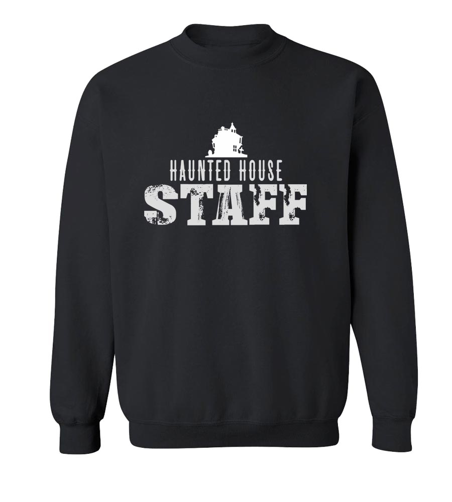 Haunted House Staff  Crew Neck Sweatshirt
