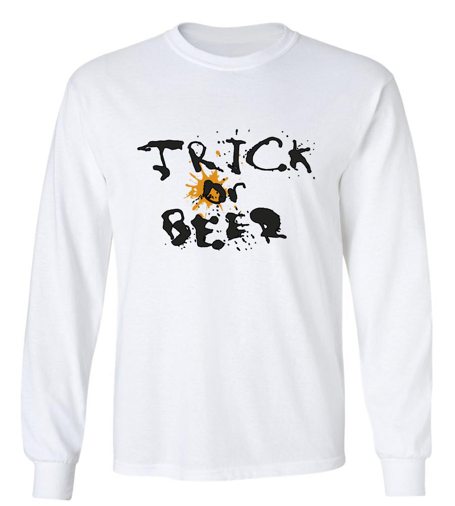 Halloween Trick or Beer Long Sleeve T-Shirt