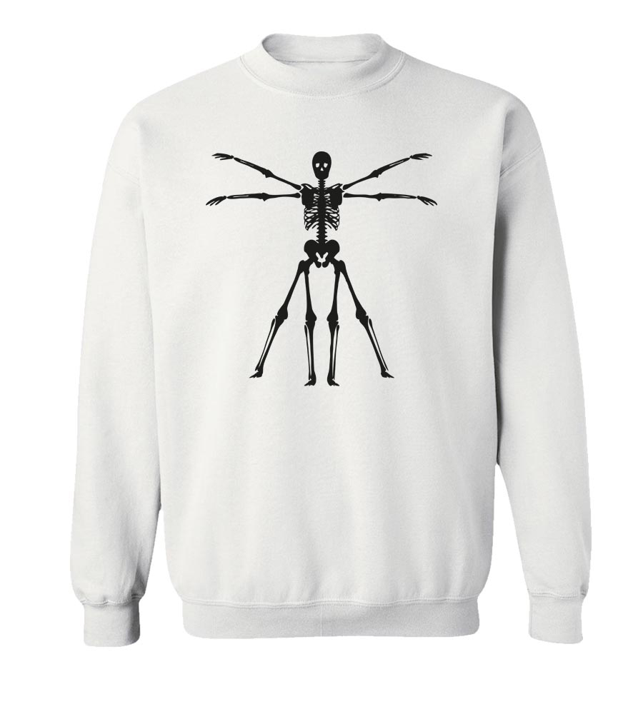 Halloween Skeleton Crew Neck Sweatshirt