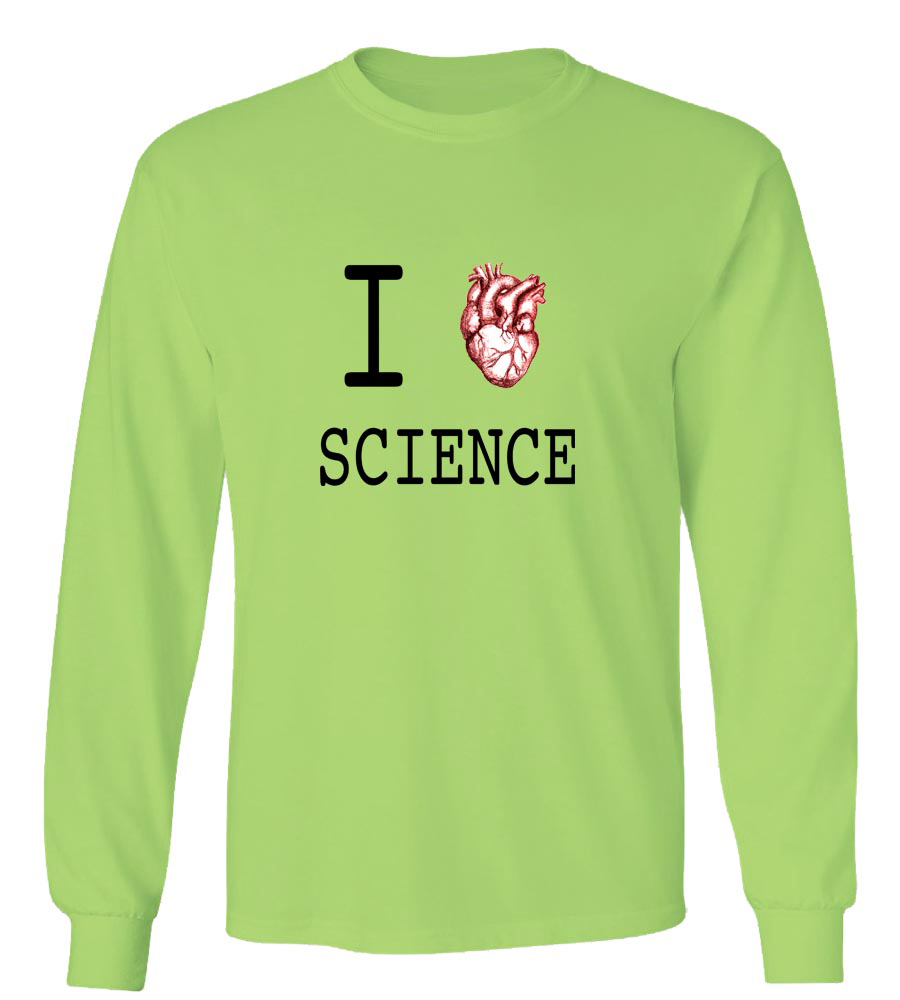 I Love Science  Long Sleeve T-Shirt
