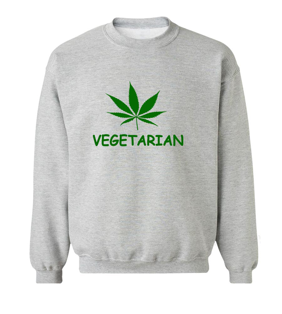 Vegetarian Crew Neck Sweatshirt