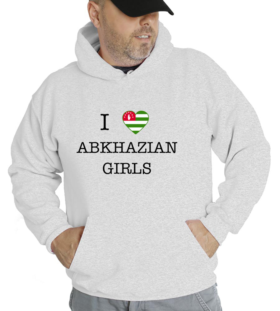 I love Abkhazian Girls Hooded Sweatshirt