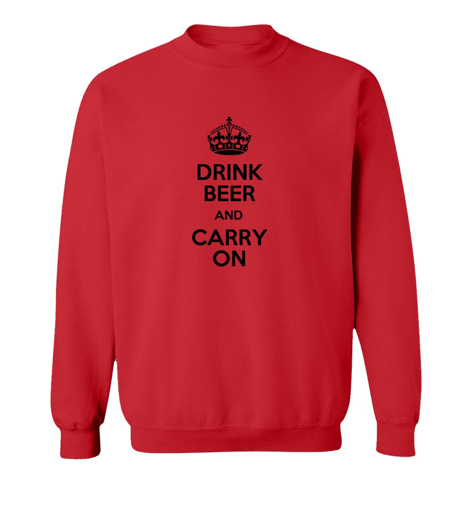 Drink Beer And Carry On Crew Neck Sweatshirt