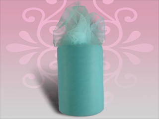 Aqua Pool Wedding Tulle Spool 6 inches x 100 yards