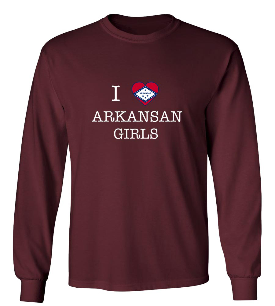 I Love Arkansas Boys Long Sleeve T-Shirt