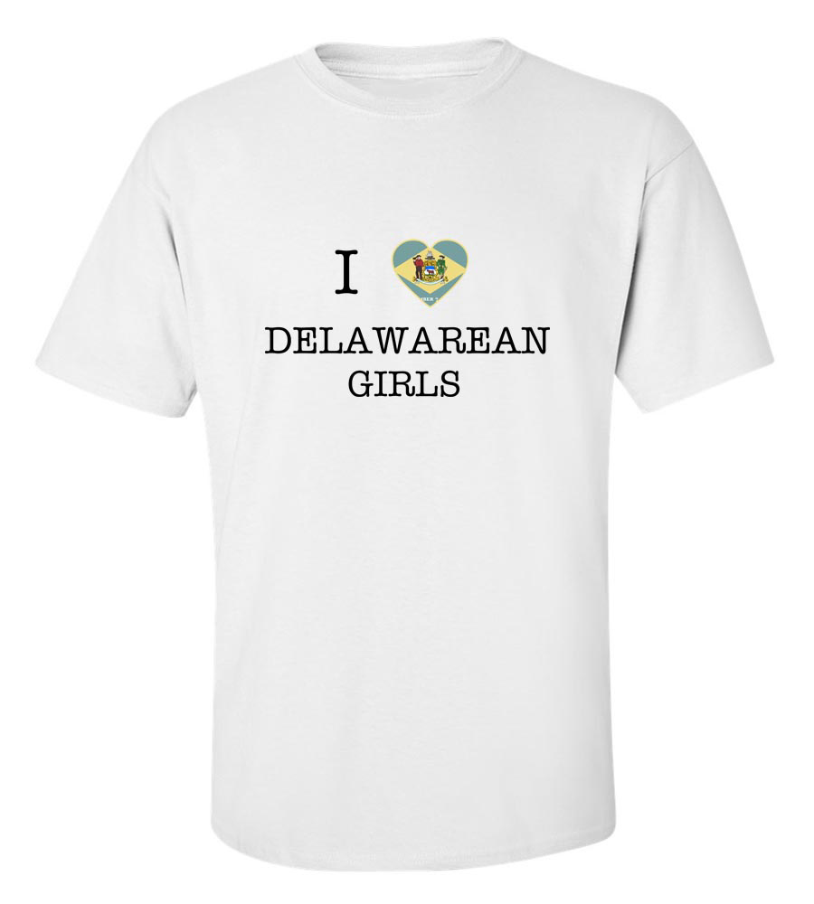 I Love Delaware Girls T-Shirt