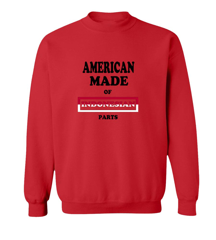 American Made Of Indonesian Parts crew neck Sweatshirt