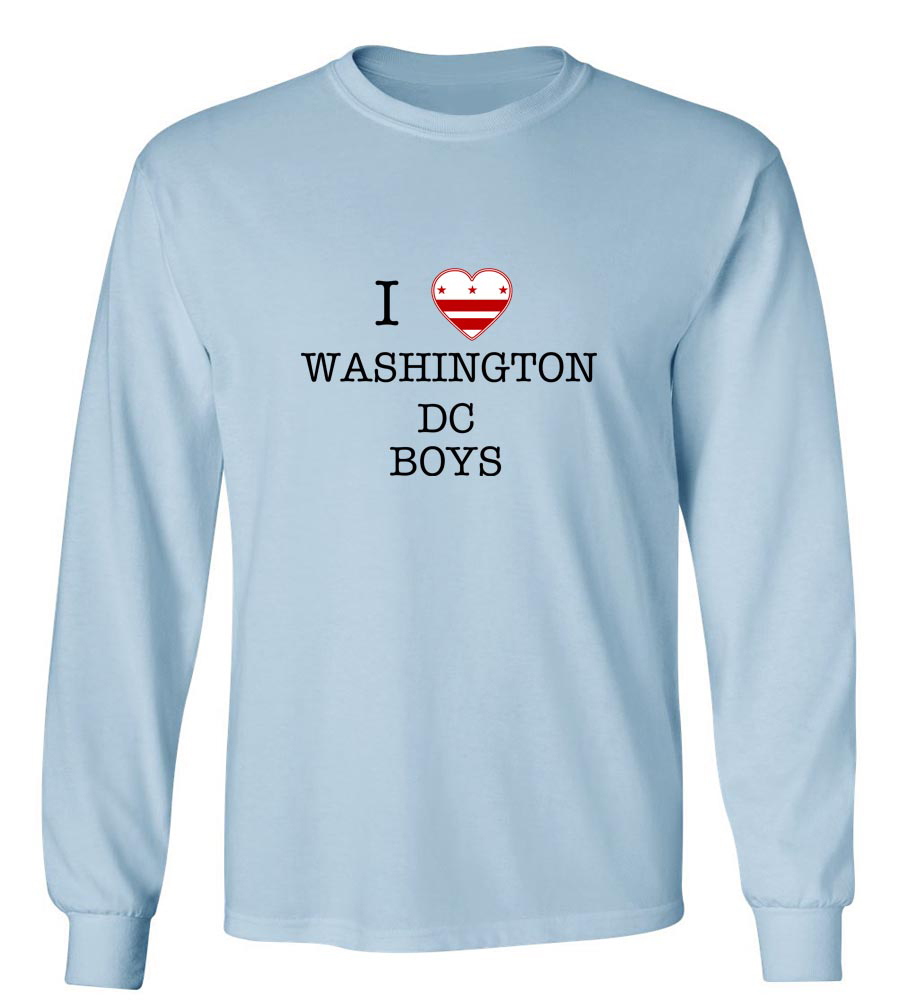 I Love Washington Dc Boys Long Sleeve T-Shirt