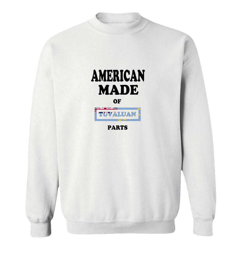 American Made Of Tuvalu Parts Crew Neck Sweatshirt