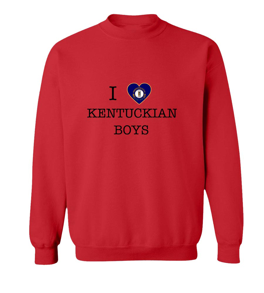 I Love Kentucky Boys Crew Neck Sweatshirt