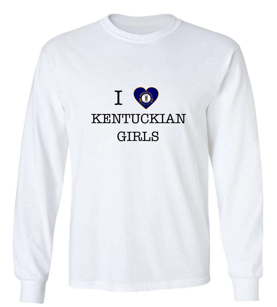 I Love Kentucky Girls Long Sleeve T-Shirt