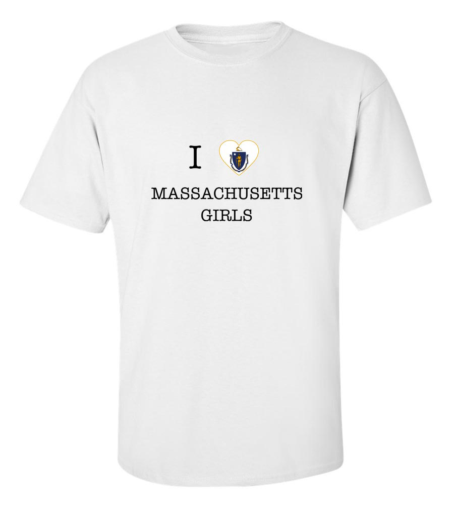 I Love Massachusetts Girls T-Shirt