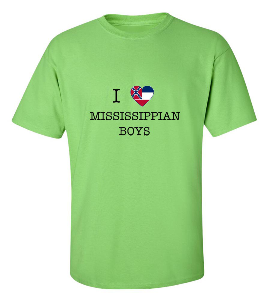 I Love Mississippian Boys T-Shirt