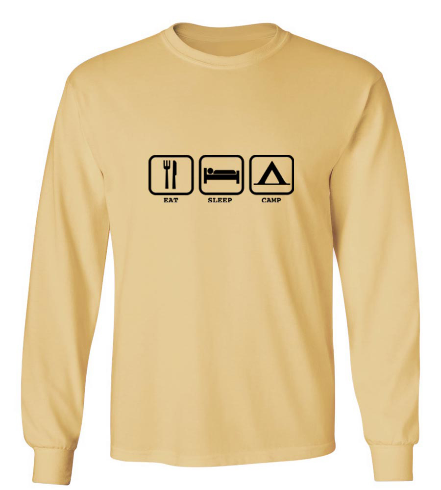 Eat Sleep Camp Long Sleeve T-Shirt