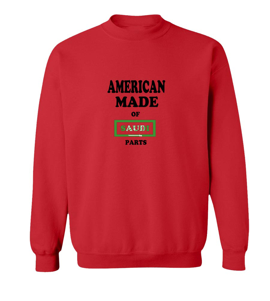 American Made Of Saudi Arabia Parts crew neck Sweatshirt