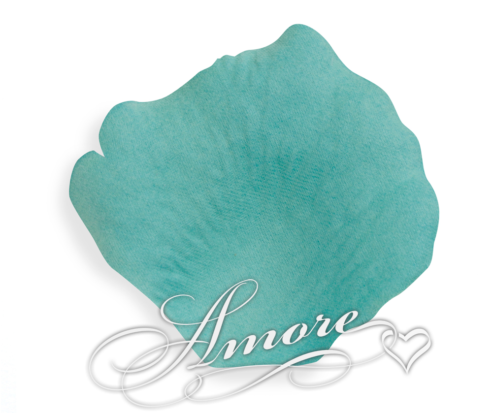 Tiffany Blue Turquoise Silk Rose Petals Wedding 600