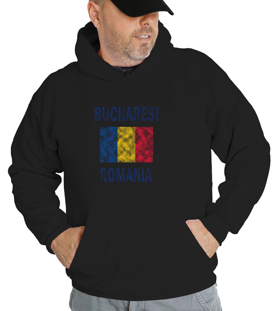 Bucharest Romania Hooded Sweatshirt