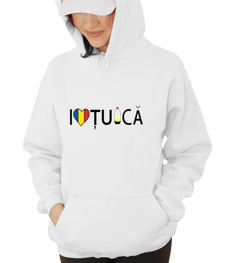 I love Tuica Hooded Sweatshirt