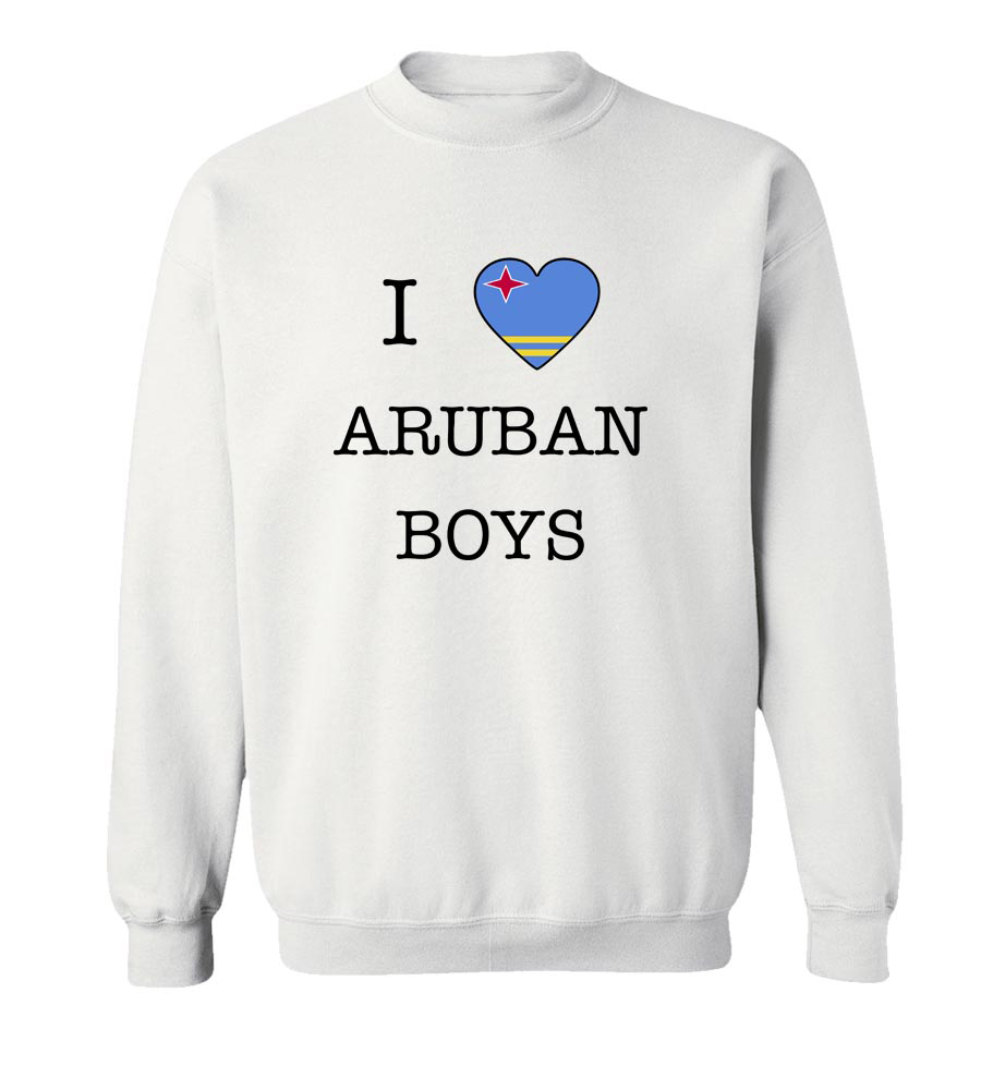 I Love Aruba Boys Crew Neck Sweatshirt